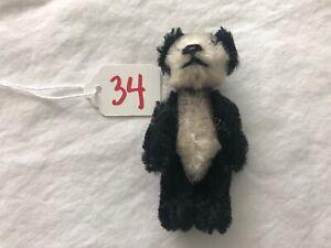 "Vintage SCHUCO PICCOLO Miniature 2 3/4"" Mohair Jointed Teddy Bear #34"