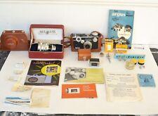 Argus C3 Camera, Vintage Camera with Accessories, Plus Telephoto Lens