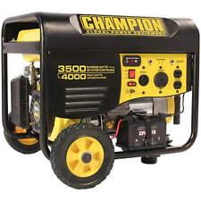 Champion 46539 - 3500 Watt Electric Start Portable Generator w/ RV Outlet & W...