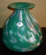 Azzurra Maestri Vetrai Green Art Glass Vase