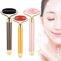 Electric Facial Jade Massager Quartz Beauty Bar Face Vibration Lift Roller Stick