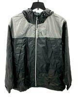 Noize Oden Mens Size Large Black Gray Hooded Full Zip Windbreaker Jacket New