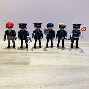 Playmobil Male & Female Police Figures & Bad Guy Bundle With Accessories