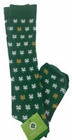 Womens St. Patricks Day Socks Shamrock Knee High 1 pair