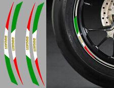 "4 X STICKERS ITALIE ROUE JANTE 17"" POUR DUCATI AUTOCOLLANT MOTO (RA087DUC)"