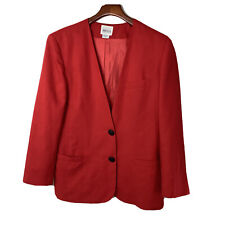 Leslie Fay Women Versatile Career Red Blazer Size 10 With Pockets