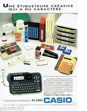 PUBLICITE ADVERTISING 116  1992   Casio   etiquetteuse éléctronique KL 2000*