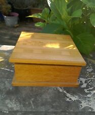 VINTAGE Ciondolo box in legno