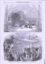 1855 CRYSTAL PALACE SYDENHAM HORTICULTURAL EXHIBITION