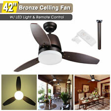 """42"""" Indoor Ceiling Fan with Led Light Kit 3 Blades Remote Control Color Changing"""