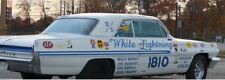 "1962 Pontiac ""WHITE LIGHTNING"" Super Stock  Drag Car 1/25th model car decal"