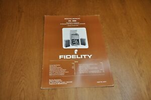 Fidelity IS 300 Stereo Music System Part no 44714 Genuine Service Manual