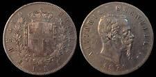 pci728) Regno Vittorio Emanuele II  lire 5 scudo 1874