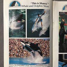 Sea World Florida 17 Page Full Color Brochure Shamu Map 1980 Plus Show Schedule