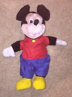 "Vintage 15"" Disney Mickey Mouse Plush Stuffed Animal Korea (pants unsewn)"