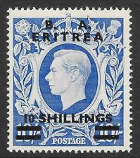 Brit. Occ. of It. Colonies (Eritrea) 1950 10/- on 10/- Ultramarine SG E25 (MNH)