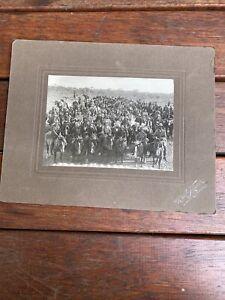 Huge Group of Stockmen On Horseback Photo Northern South Australia c1910 pre WWI