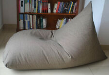 Extra Large Grey BEAN BAG chair Cover, 100% COTTON Handloom