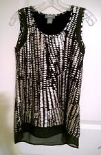 Neiman Marcus Jersey Top  XS Viscose Spandex Metallic pattern Sheer accent NWT