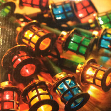 80 LED Round Lantern Fairy Lights String Coloured Garden Christmas Party Decor