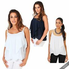 Tank, Cami Chiffon Sleeve Casual Tops & Blouses for Women