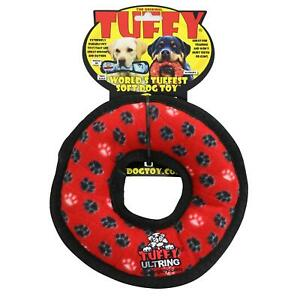 Tuffy Durable Ring Dog Toy With Squeaker, Multicolor