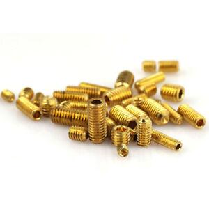 M3 M4 M5 M6 Brass Grub Hex Socket Screw Point Cup Set Screws Nut  4mm-12mm GB/T