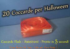 HALLOWEEN FIOCCO COCCARDE FLASH ARANCIONE 20 Pz PARTY FESTA HORROR