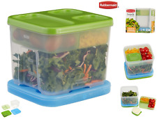 Rubbermaid Sealed Lunch Box Salad Kit Jar Food Durable Container IceCold Storage