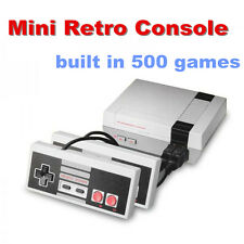 Mini Retro TV NES Game Console Built-in 500 Games with 2 Controllers