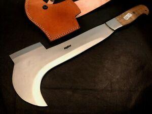 Handmade High Carbon Steel Axe/ Hatchet -Bill Hook-Functional-