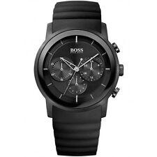 Hugo Boss Black Rubber Chronograph Mens Watch 1512639