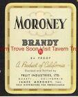 1940s Pennsylvania Philadelphia Moroney Brandy Fruit Industries Gusati CA Label