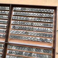 20p - PRESENT Bleisatz Buchdruck Handsatz Bleibuchstaben 7,5 mm Letterpress Type