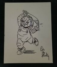 Child's Play Chucky Original Drawing Pete von Shelly Signed Artist Board  W/COA