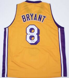 On Court Style Lakers Jersey hand signed By Kobe Bryant Beckett And PSA