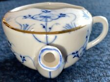 Antique Gilt Invalid Feeder Blue Onion SideSpout Germany Porcelain Sick Lg3/4Cup