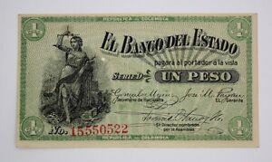 COLOMBIA 1900 EL BANCO DEL ESTADO 1 PESO - SERIE D