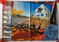 "RaRe. vintage Chad Knight poster 19x26"" skateboard cartoon Maple Hawk 90s 1990s"