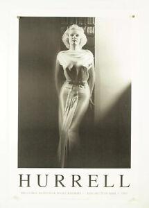 "JEAN HARLOW black & white portrait, GEORGE HURRELL 1993 exhibition poster 20x30"""