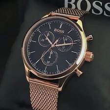 NEW HUGO BOSS 1513548 MEN'S ROSE GOLD COMPANION CHRONOGRAPH WATCH