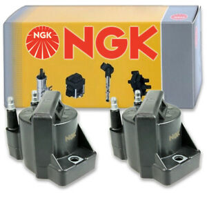 2 pcs NGK Ignition Coil for 1993-2002 Saturn SC2 1.9L L4 - Spark Plug Tune ts