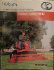 KUBOTA DIESEL FRONT MOWER  F - F2880E / F2880 / F3680  BROCHURE FACTORY ORIGINAL