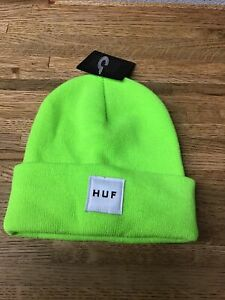 HUF Beanie Florescent Green Lime  - New With Tags  KK3