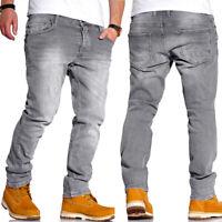 RELLO & REESE Jeans Hose Regular Straight Fit Hose Grau/Schwarz NEU