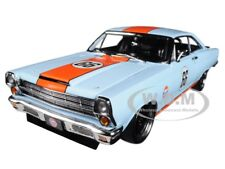"1967 FORD FAIRLANE ""GULF OIL"" LIGHT BLUE LTD ED 600 PCS 1/18 MODEL BY GMP 18858"