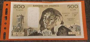 billet de 500 francs PASCAL1983