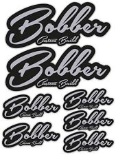 Bobber Custom Build Silver Black Laminated Stickers motorbike motorcycle Biker