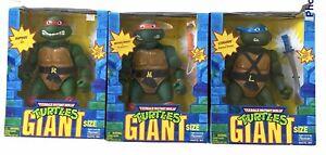 """3 Vintage Giant Sized  TMNT 13"""" Figures PLAYMATES RARE Box Damage , READ DESCR"""