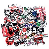 80PCS Vinyl Sticker Pack Motorcycle Racing Car Motocross Helmet ATV Decals Lot